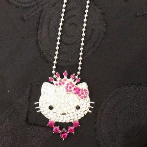 Gorgeous Rhinestone  character necklace